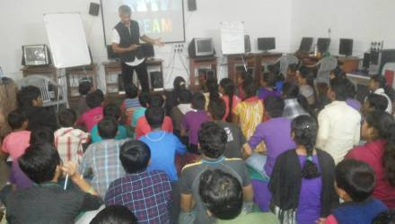 WAKE UP TO DREAM session for the students at NGO SAMVEDNA!!!